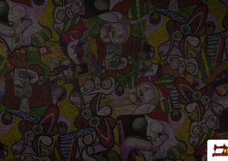 Tissu Imprimé avec Dessin Abstract