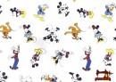 Tissu en Coton Imprimé Résistant a l'Eau Imprimé avec Personages Disney