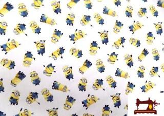 Tissu en Coton Imprimé avec les Personnages du Minions