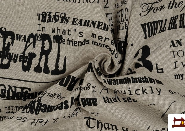 Acheter OUTLET Tela de Loneta Estampada con letras