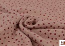 Vente en ligne de Tissu en Sweat Fin avec Imprimé Infantile à Pois couleur Rose avec Nuances