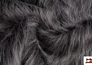 Tissu à Poil Simili Marmotte Gris