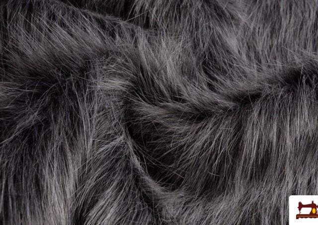 Tissu à Poil Simili Marmotte Naturel Gris