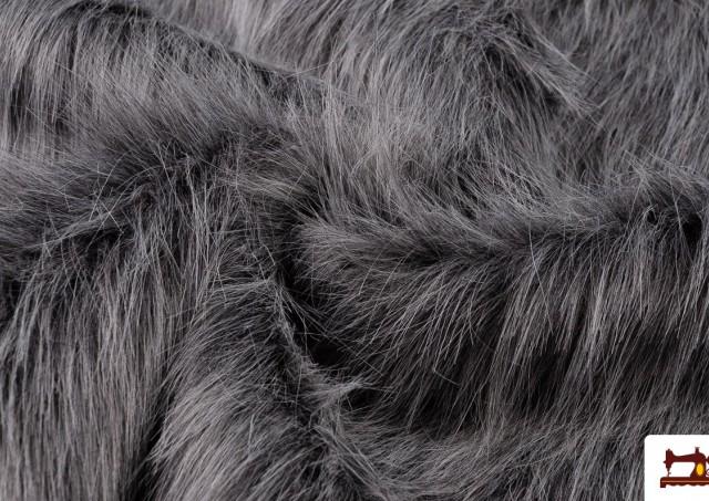 Acheter Tela de Pelo Simil Marmota Natural Gris