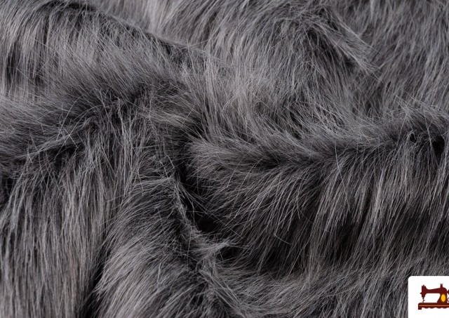 Acheter Tissu à Poil Simili Marmotte Naturel Gris