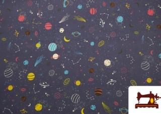 Tela de Popelín de Algodón Sistema Planetario