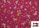 Tissu Popeline en Coton avec Licornes et Arcs-en-ciel