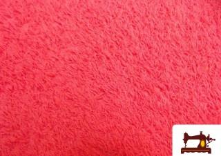 Tissu avec Boucle Américaine en Coton Couleur Fuchsia