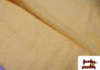 Tissu pour Serviettes avec Boucle Américaine Couleur Jaune Pâle