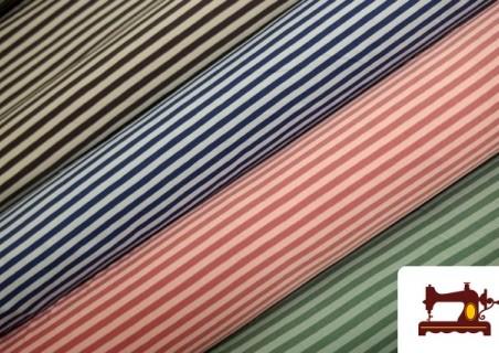 Tissu de Tee-Shirt à Rayures de Couleurs couleur Vert