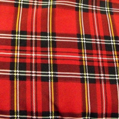 Tissu avec Quadrillage Écossais
