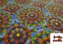 Tissu en Sweat Imprimé Mandala Hippie