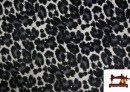 Tissu en Velours Animal Print Gris
