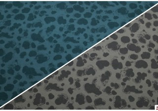Tela de Sudadera Manchitas Grises o Azules