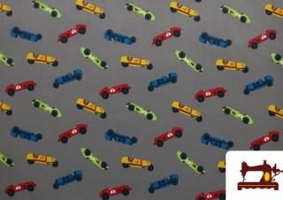 Tissu en Softshell Imprimé avec Voitures Amusantes