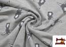 Tissu en Sweat Imprimé avec Lapins