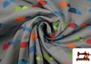 Tissu en Softshell Imprimé avec Montagnes de Couleurs