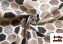 Tissu en Canvas Imperméable Imprimé avec Dessin Géométrique