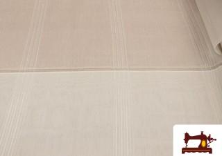 Tissu pour Rideaux de Couleur Beige avec Relief