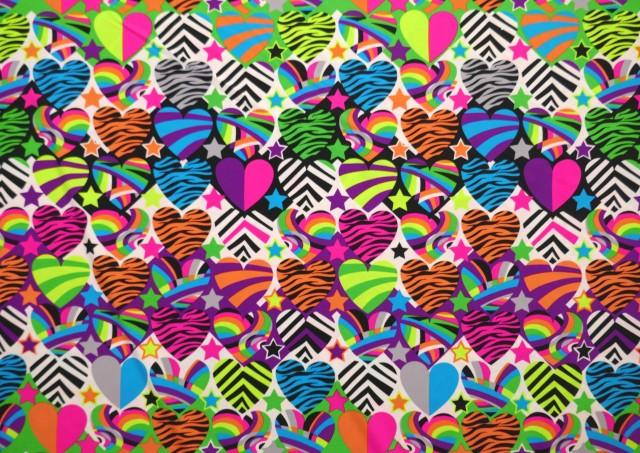 Acheter Tissu en Lycra Imprimé Coeurs