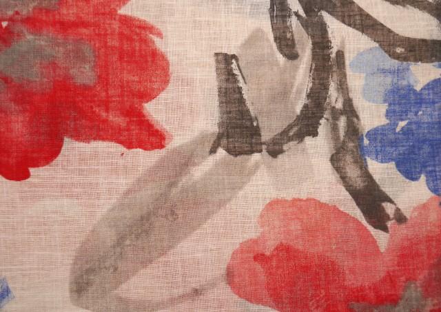 Acheter Tissu en Lin et Polyester Imprimé Floral