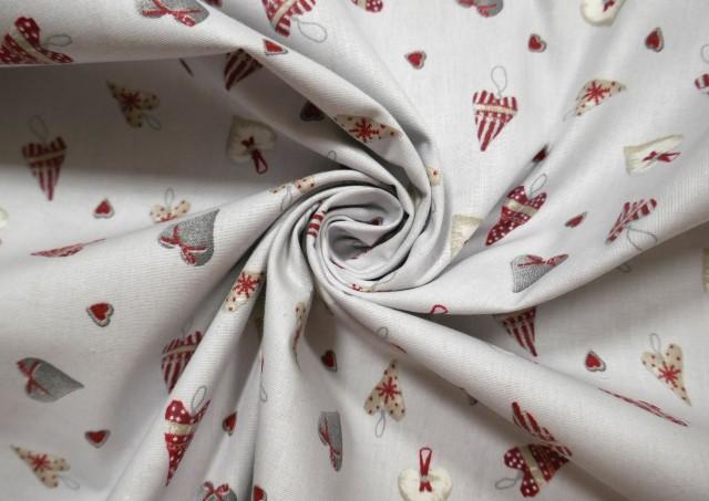 Vente de Tissu Beige pour Décoration Noël couleur Gris clair