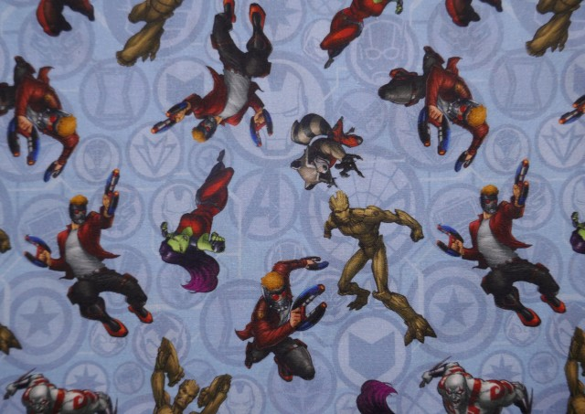 Tissu en Coton Imprimé avec Les Gardiens de la Galaxie