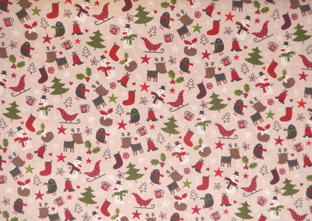 Tissu de Noël avec Arbres