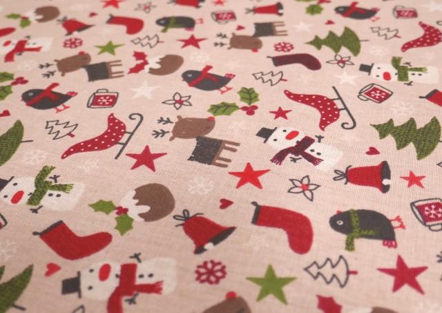 Vente de Tissu de Noël avec Arbres