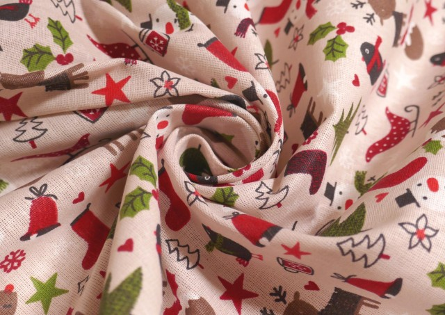 Acheter en ligne Tissu de Noël avec Arbres
